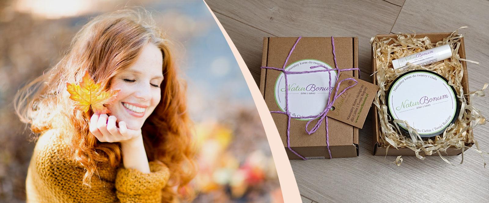 Kremy naturalne pakowanie prezentowe